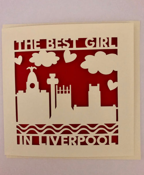 Best Girl in Liverpool - Greeting Card