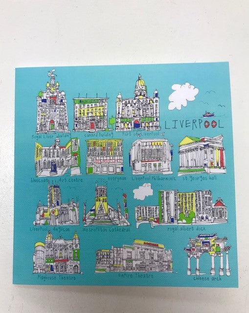 Liverpool Buildings Greeting Card