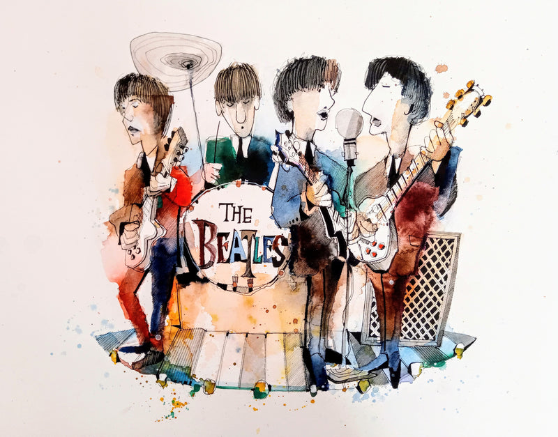 The Fab Four- Limited Edition Print