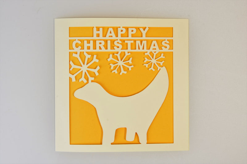 Lambanana Paper-Cut Christmas Card