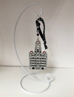 Liver Building Ceramic Decoration