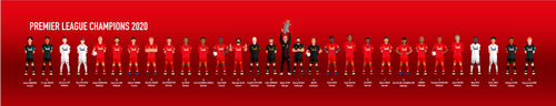 LFC Premier League Champions 2020 - Limited Edition Canvas