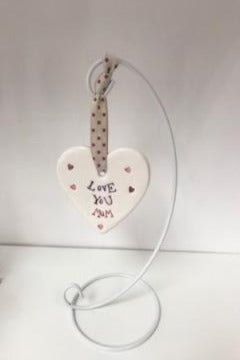Love You Mum Ceramic Heart