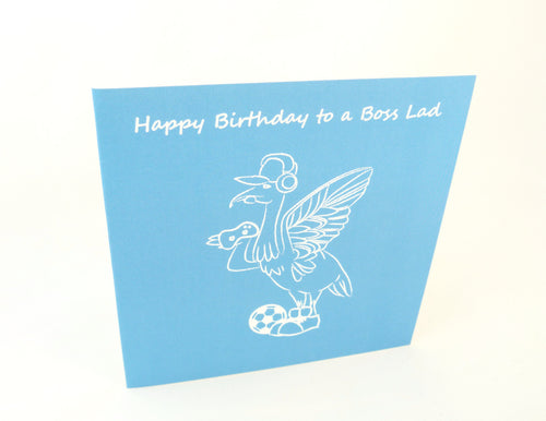 Boss Lad Happy Birthday  Card - Greetings Card