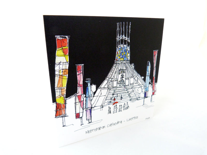 Liverpool Metropolitan Cathedral Greeting Card by Freida McKitrick