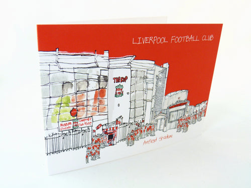 Anfield Greeting Card by Freida McKitrick