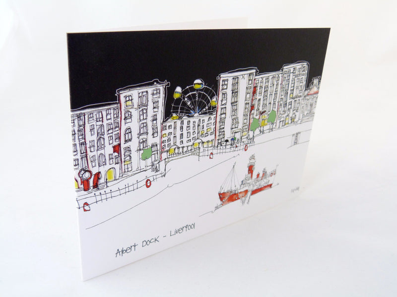 The Albert Dock - Greetings Card