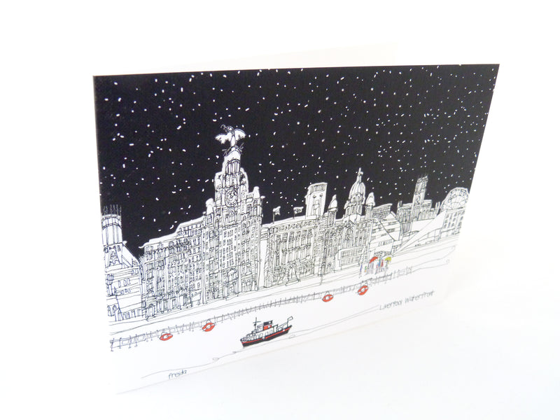 Liverpool Waterfront - Greetings Card