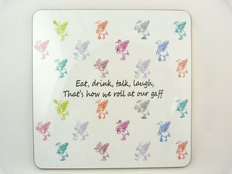 Liver Bird Placemats - Eat drink talk laugh