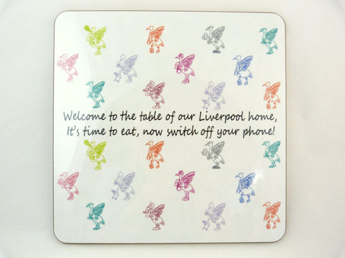 Liver Bird Placemats - Welcome to the table