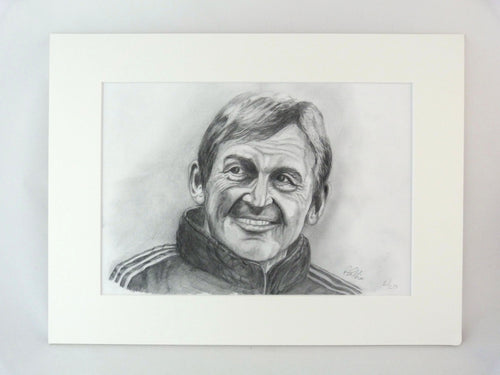 Kenny Dalglish Pencil Drawing Print - Limited Edition