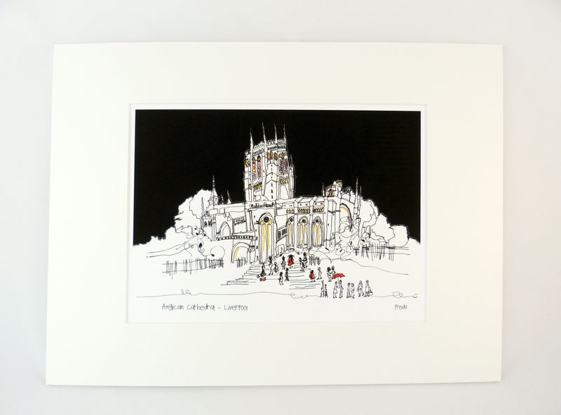 Liverpool Cathedral Print by Freida McKitrick