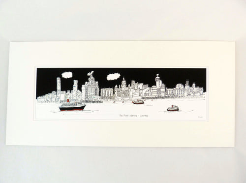 The River Mersey- Large Print