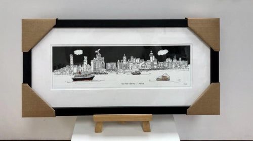 Framed 'The River Mersey with Dazzle Ferry' Print - by Freida McKitrick