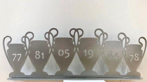 Champions League Trophies on Stand