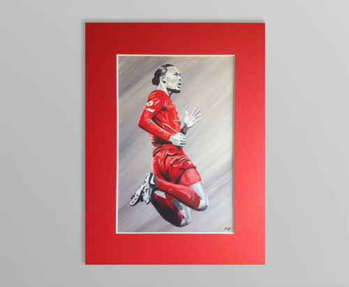 Virgil Van Dijk Mounted Print