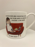 She believed she could - Large bone china mug