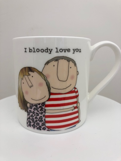 I Bloody Love You- Large Bone China Mug