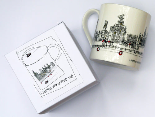 Liverpool Waterfront China Mug by Freida McKitrick