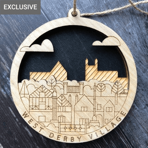 3D West Derby Ornament