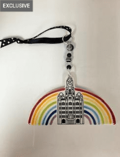 Liver Building with Rainbow - Ceramic Decoration