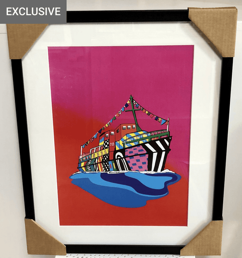 The Dazzle Boat, River Mersey - Framed Print