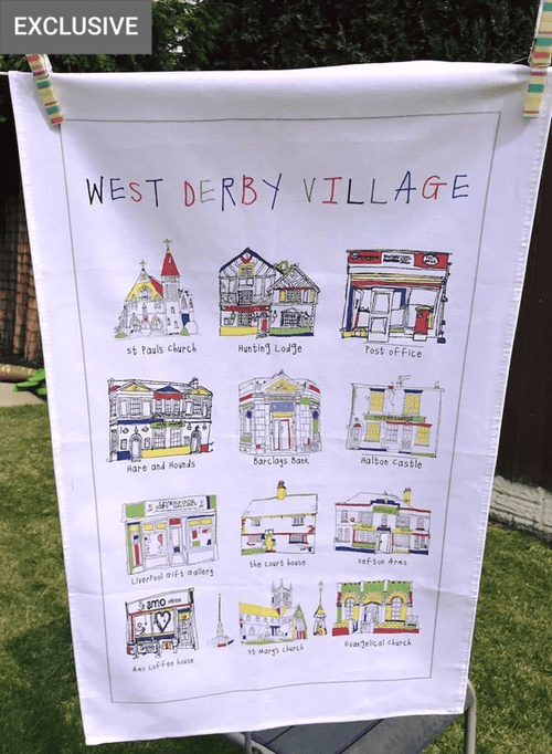 West Derby Village - Tea Towel