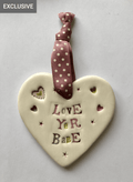 Love Yer Babe - Ceramic Heart
