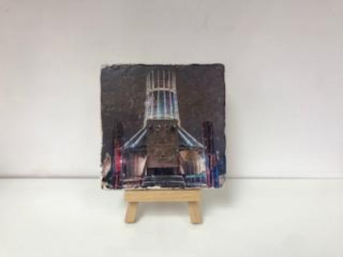 Liverpool Metropolitan Cathedral at Night - Stone Coaster