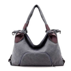 Women Canvas Durable Tote Casual Functional Handbag Shoulder Bag Crossbody Bag