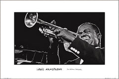 Louis Armstrong In Concert 24x36 Premium Poster