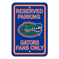 Florida Gators Reserved Parking 12x18 Plastic Sign