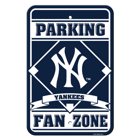New York Yankees Sign - Plastic - Fan Zone Parking - 12 in x 18 in