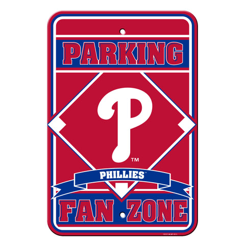 Philadelphia Phillies Fan Zone 12x18 Plastic Sign