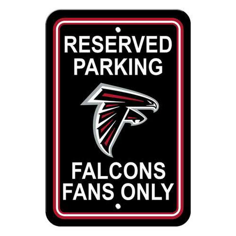 Atlanta Falcons Reserved Parking 12x18 Plastic Sign