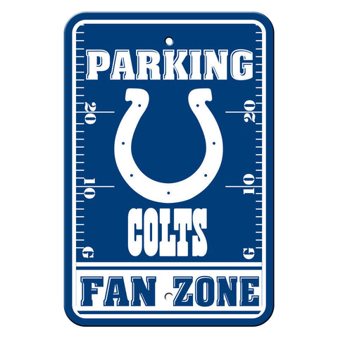 Indianapolis Colts Fan Zone 12x18 Plastic Sign