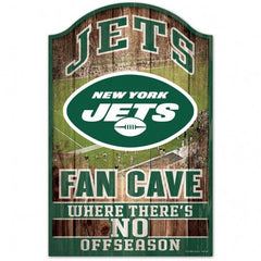 New York Jets Sign 11x17 Wood Fan Cave Design