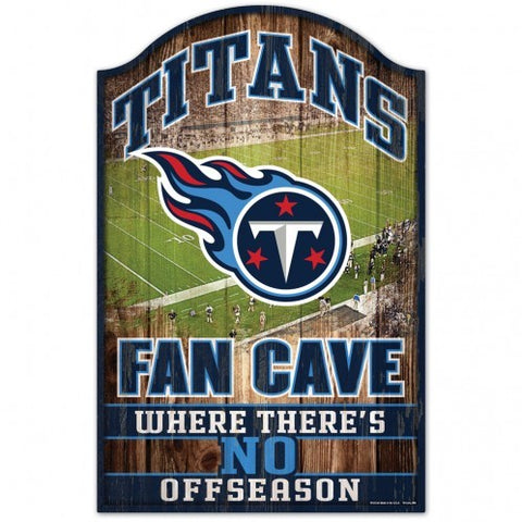 Tennessee Titans Fan Cave 11x17 Wood Sign