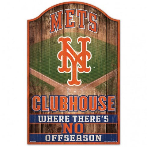 New York Mets Sign 11x17 Wood Fan Cave Design