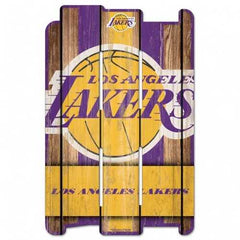 Los Angeles Lakers Mid-Court 11x17 Wood Sign
