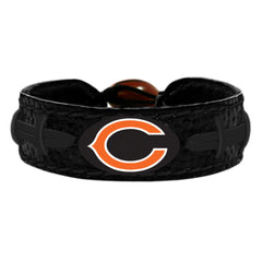 Chicago Bears Black Logo Color Bracelet