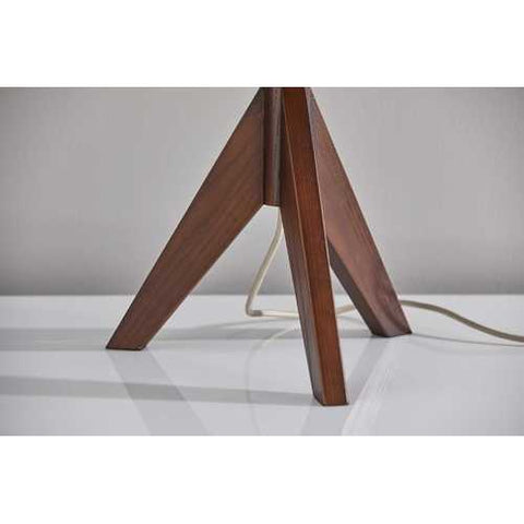 "13"" X 13"" X 23.5"" Walnut Wood Table Lamp"