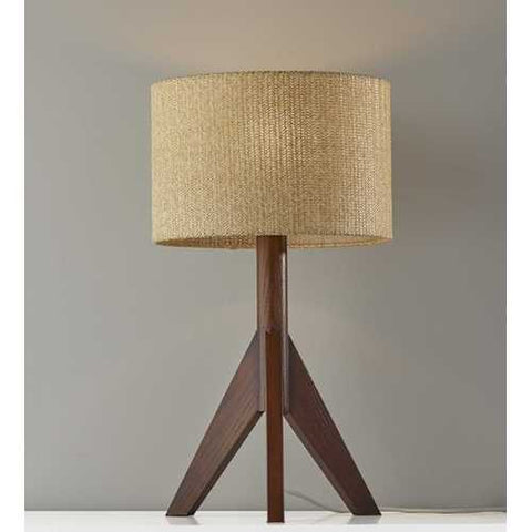 Walnut Wood Table Lamp