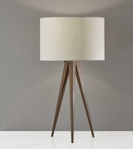 Walnut Metal Table Lamp