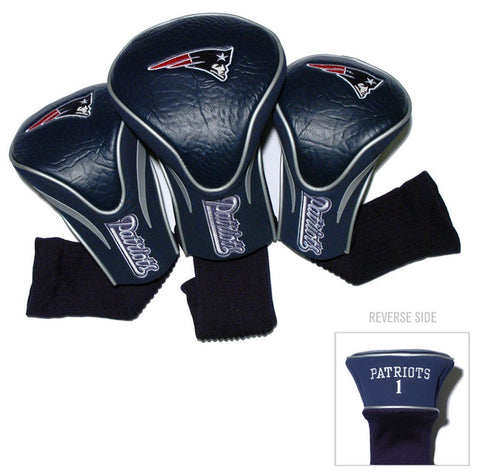 New England Patriots Golf Club 3 Piece Contour Headcover Set