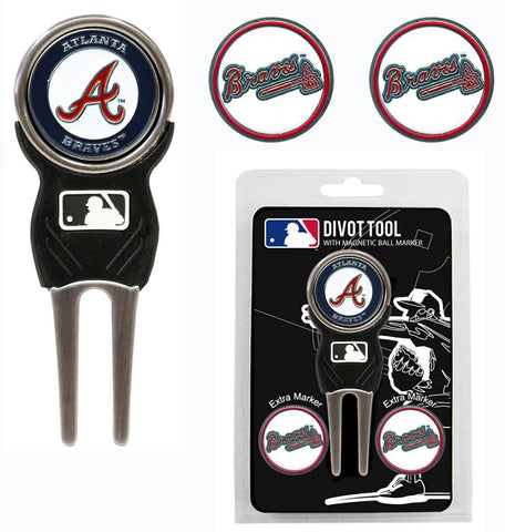 Atlanta Braves Golf Divot Tool 3 Markers