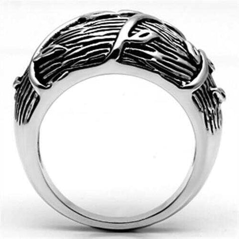 3W064 - Brass Ring Rhodium Women No Stone No Stone