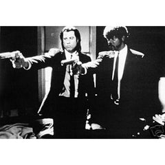 Pulp Fiction Black and White 24x36 Premium Poster
