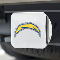 Los Angeles Chargers Hitch Cover Color Emblem on Chrome