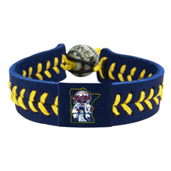 Minnesota Twins Leather Thread Bracelet